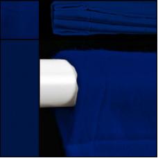 theaterdoek / backdrop / blauw / met ophanglussen
