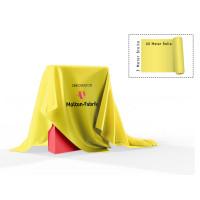 Dekomolton 60m  ,  op rol, geel, B 1 , 300 cm breed