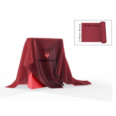 Dekomolton 60m  ,  op rol, rood, B 1 , 300 cm breed