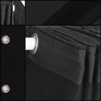 theaterdoek / backdrop / zwart / met ophangogen
