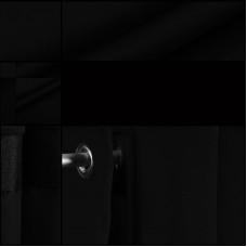 Velours backdrop-gordijndoek / zwart / met ophangogen