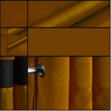 Velours backdrop-gordijndoek / goud / met ophangogen