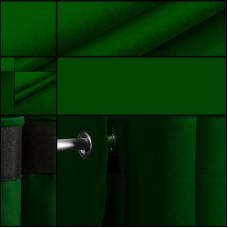 Velours backdrop-gordijndoek / groen / met ophangogen