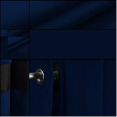 Velours backdrop-gordijndoek / Marine / met ophangogen