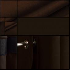 Velours backdrop-gordijndoek / bruin / met ophangogen